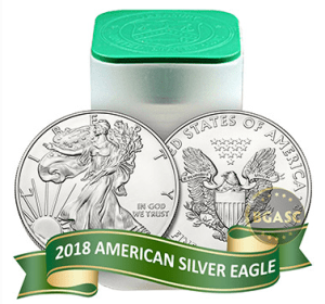American Silver Eagle roll 2018