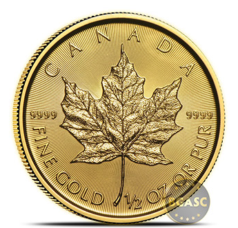 Canadian Gold Maple Leaf one half ounce