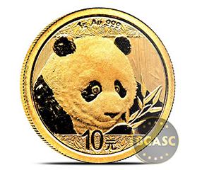 Chinese 1 g gold panda 2018
