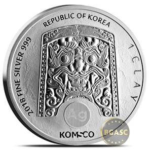 Chiwoo Cheonwang silver round reverse