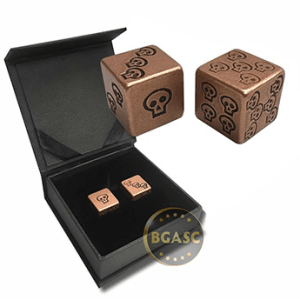 Copper dice skull design