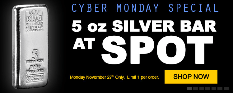 Cyber Monday republic silver banner