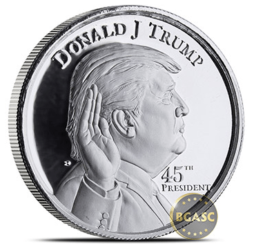Donald Trump ultra high relief obverse 2 ounce
