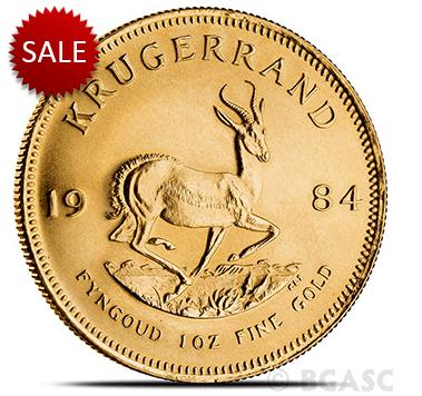 Gold Krugerrand reverse