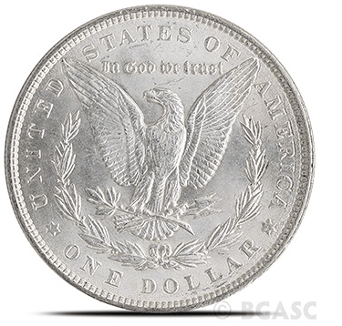 Morgan Silver Dollar uncirculated reverse