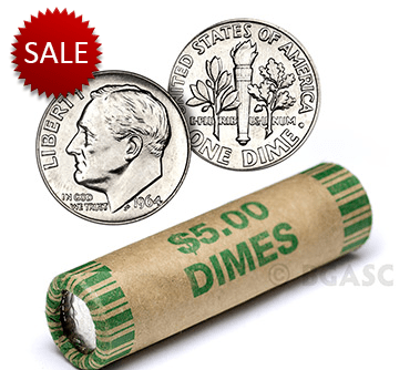 Silver dime rolls