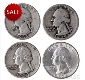 Silver quarters