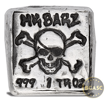spooky silver one ounce jolly roger