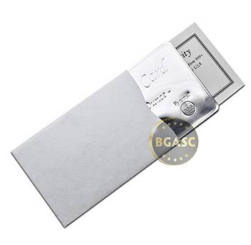 the silver card check sleeve wallet
