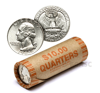 washington quarter roll bgasc
