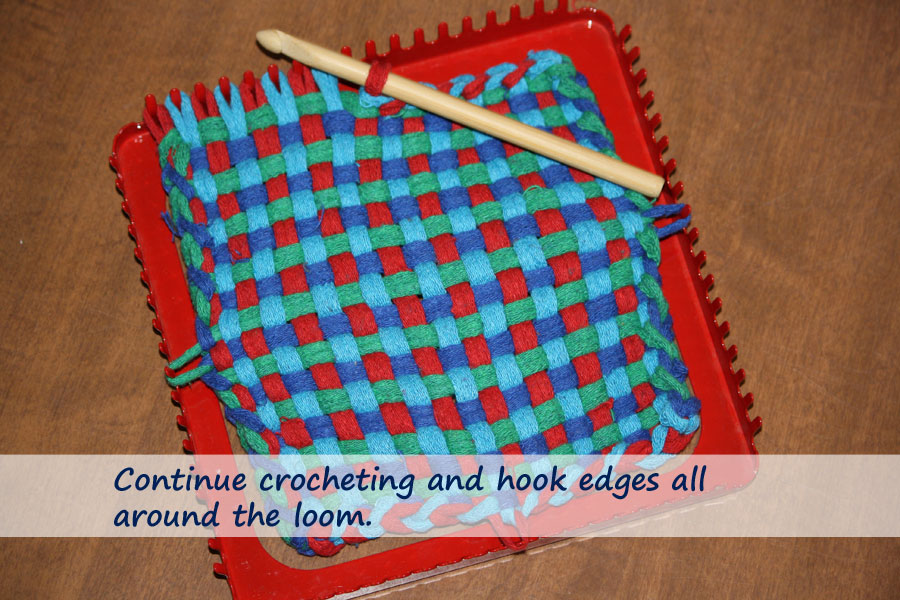 The Best Way to Finish Handwoven Potholders