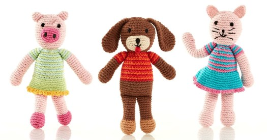 Pebble Toy Animal Characters