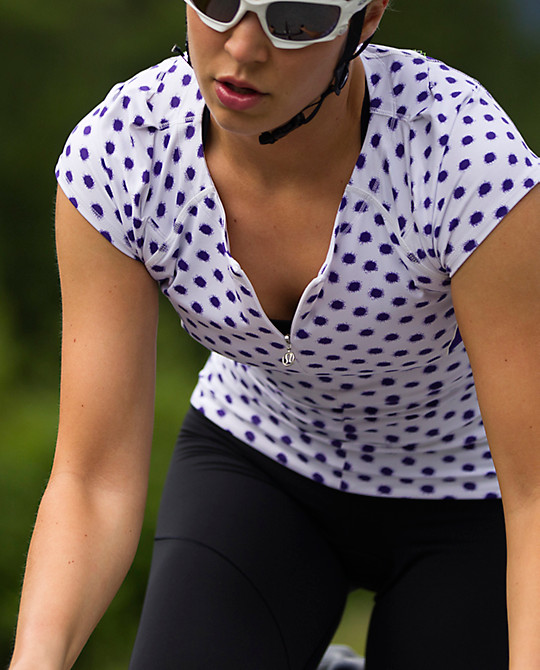 Lululemon cycling polkadots