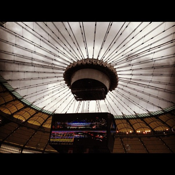 It's see through now! @BCplace #Openhouse #downtown #vancouver - from Instagram