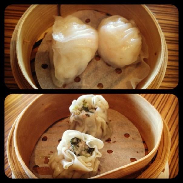Dumpling vs dumpling! #prawn #pork #lunchtime - from Instagram
