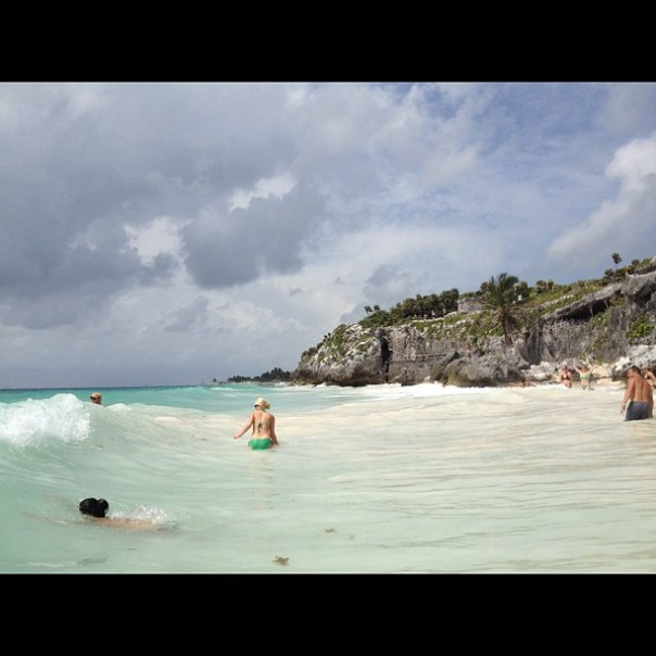 The beautiful beach in #tulum #mexico #vacation - from Instagram