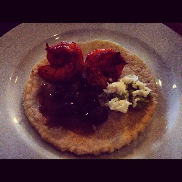 My Mayan style dinner - Shrimp Mayajita - from Instagram