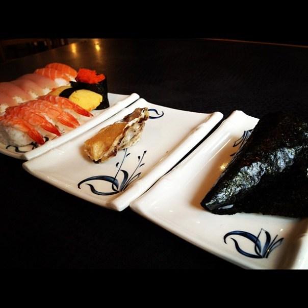 Sushi party @TanpopoSushiVan w/ @jminter - from Instagram