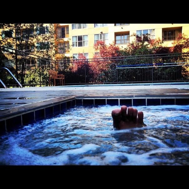 Oh yeah hot tub yeah! #2daysinseattle - from Instagram