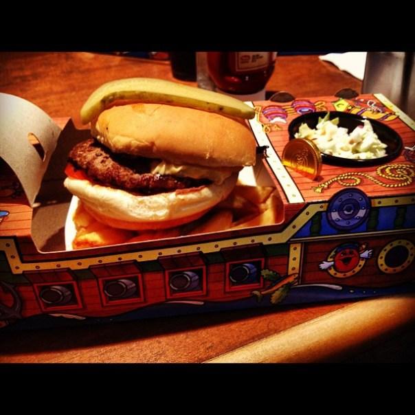 Aaargh! #piratepak day burger @white_spot - from Instagram