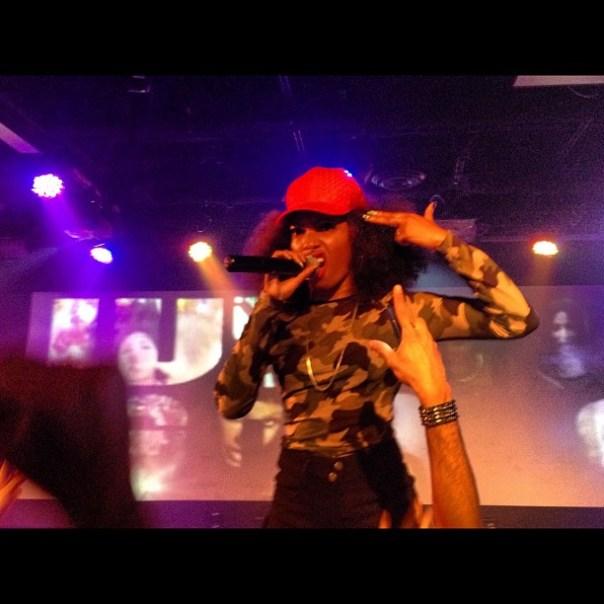 I am no angel~! #DirtyTalk @WynterMusic @ 560 last night was #Hot! #glitter - from Instagram