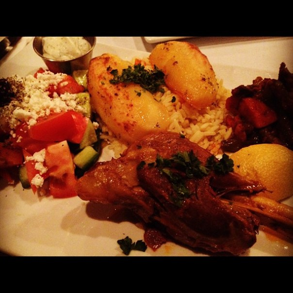 Having an awesome greek dinner. #lamb #shank - from Instagram