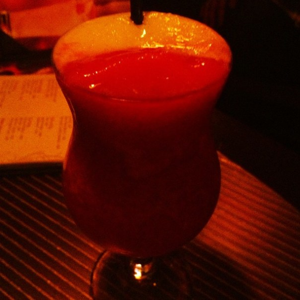 Miami vice! #Rum + #PinaColada + #strawberry #Daiquiri - from Instagram