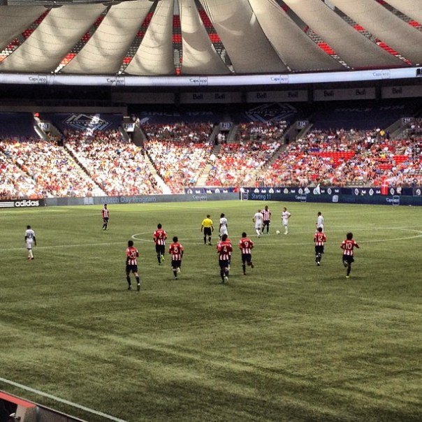 #Vancouver #WhitecapsFC vs. arriba las #ChivasUSA - from Instagram