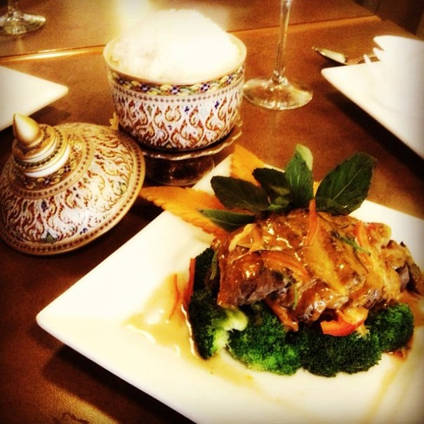 About to taste #Chef Grace's #Thai steak @SimplyThai4 #ChefsDishesYVR - from Instagram