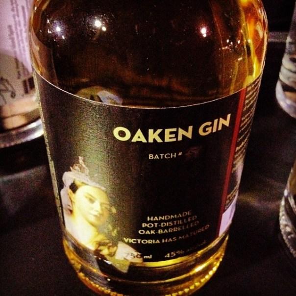 Booze no.2 #Oaken #Gin @VictoriaSpirits #hopscotchfest - from Instagram
