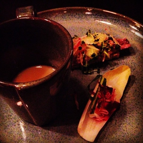 Last stop of the night! @KesselandMarch #tastingplatesyvr @EastVillageVan #parsnip #soup #Sardine #toast - from Instagram