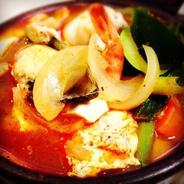 Spicy #Korean seafood stew! #Dinner - from Instagram