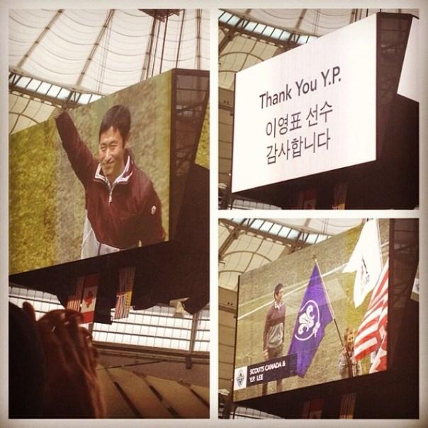 #WhiteCapsFC honoring Y.P. Lee! #Vancouver vs. #Houston - from Instagram