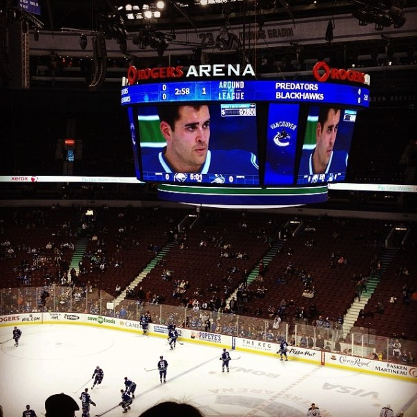 #Canucks vs #Sabres about to start! #Vancouver #Buffalo - from Instagram
