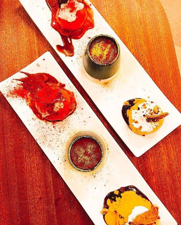 #tastingplatesyvr #chinatown edition - pumpkin pie #gelato + Raspberry #sorbetto + #Chocolate #manukahoney @umalumagelato #vancouver - from Instagram
