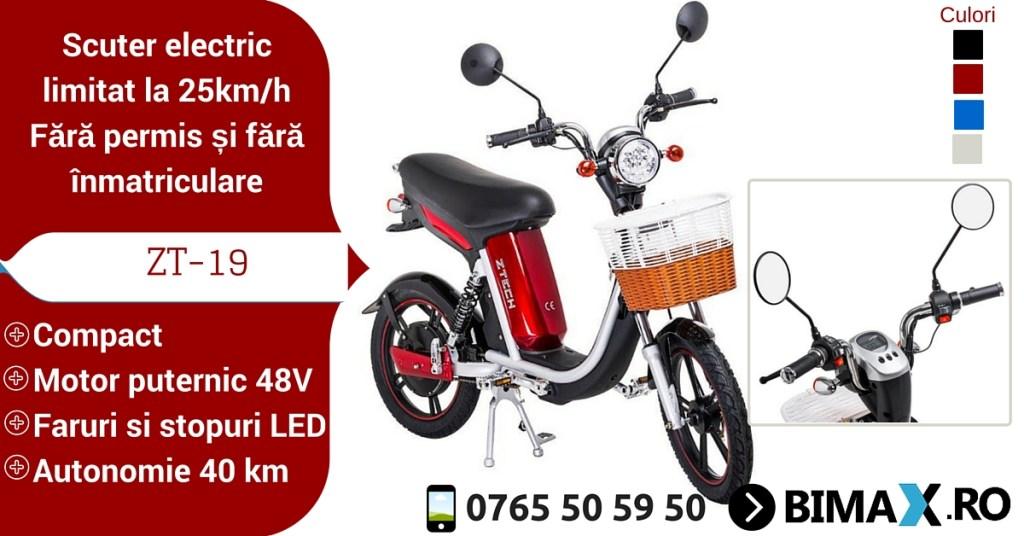 scuter electric fara permis zt-19