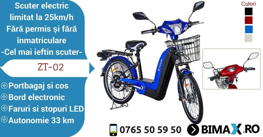 scuter electric ztech 02 fara permis