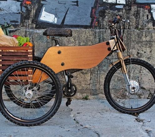 cargo tricicleta lemn