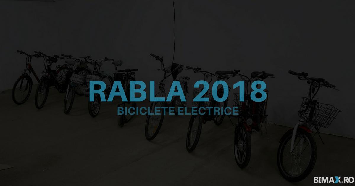 Biciclete electrice cu Tichet Rabla în 2018