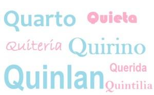 Nomi lettera Q bimbonaturale