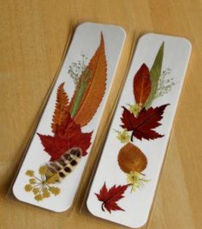 segnalibri foglie secche