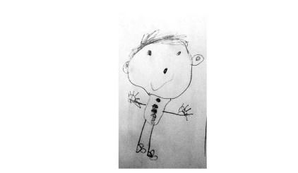 disegno bambino figura umana