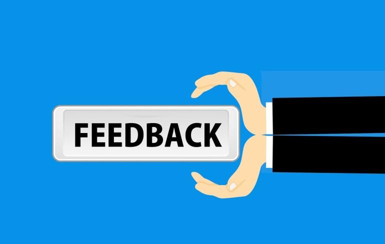 quadro escrito feedback
