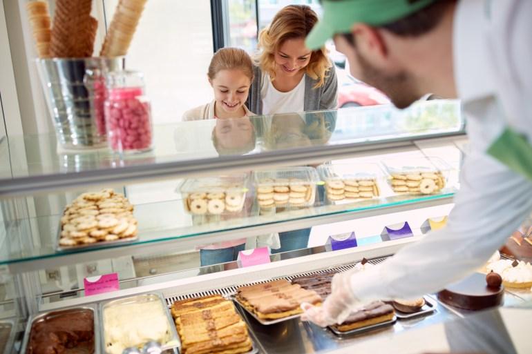 Atendimento em padaria, personalizado