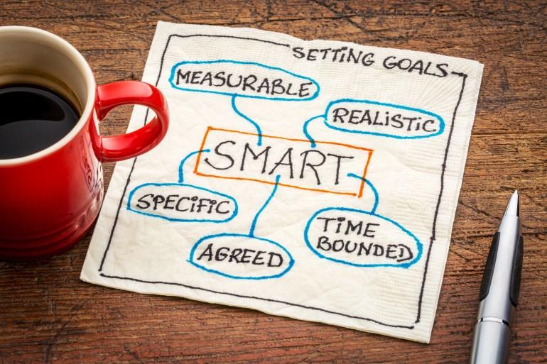 guardanapo com a definição do termo SMART