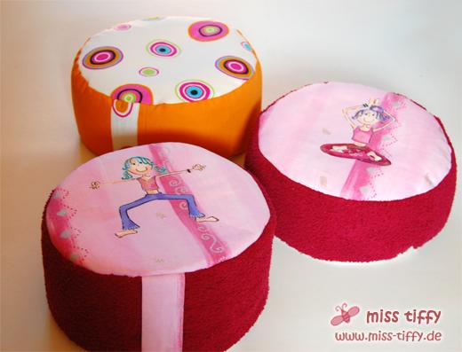 Ideal für Yoga und Meditation: Das neue Miss-Tiffy-Kissen