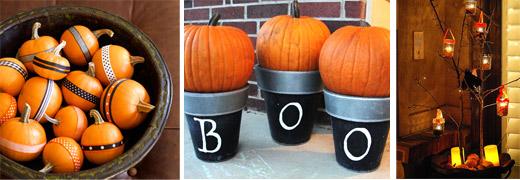 Schöne Ideen für Hdie Herbst- und Halloween-Deko