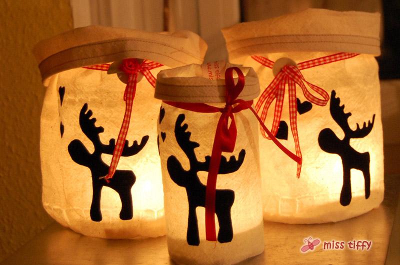 Winter Und Weihnachten: Elch-Windlicht