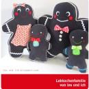 """Lebkuchenfamilie von lyaundich.blogspot.de, genäht nach dem binenstich-E-Book """"Lebkuchenfamilie   binenstich.de"""