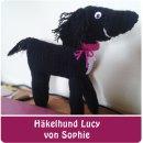 """Sophie hat einen Hund für ihre Freundin und ihre Mama gehäkelt, nach meinem E-Book """"Häkelhund Paul""""   binenstich.de"""
